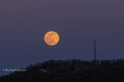 Supermoon over Daphna Tower