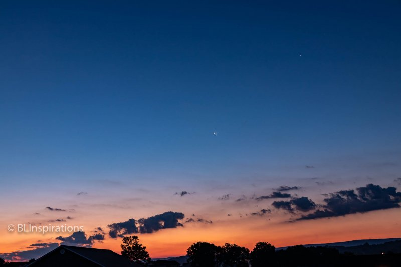 Broadway Sunrise with Crescent Moon and Venus