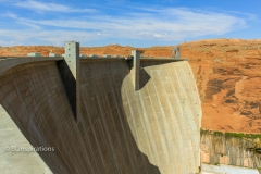 Crest of Glen Canyon Dam