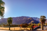 San Jacinto Mountains from N. Palm Canyon Drive