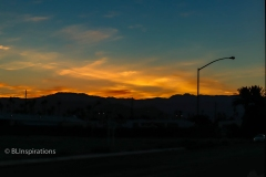 Sunset from Indio, CA