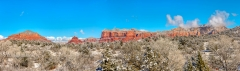 Courthouse Butte and Bell Rock Panorama 2
