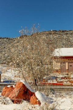 Snow at Red Rock Visitor Center and Ranger Station