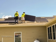 Installng Panels on Roof