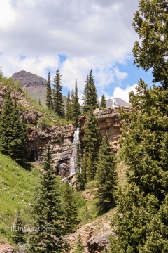 Waterfall by Colorado Trail